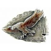 EAGLE ON ARROW HEAD LAPEL PIN